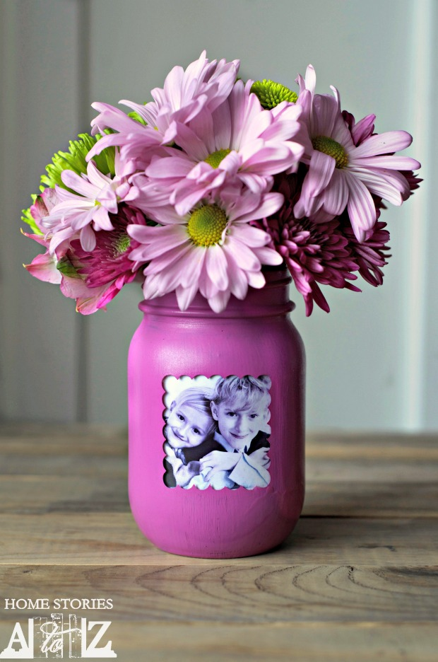Mason Jar Vase Picture Frame