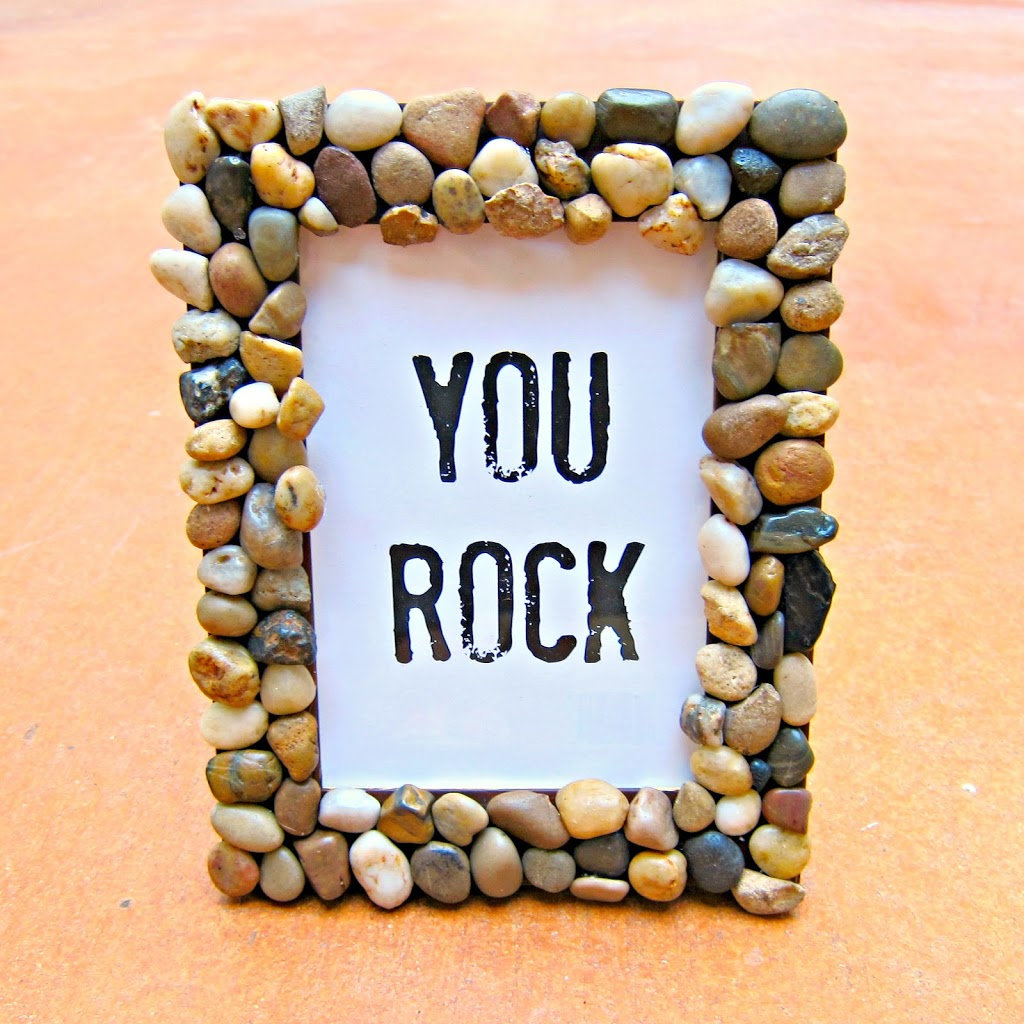 River Rock Picture Frame