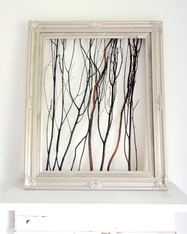 Framed Twig Art