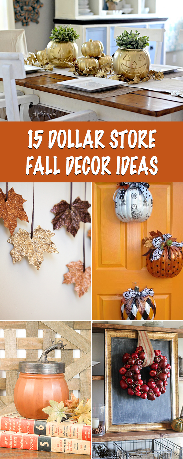 15 Dollar Store Fall Decor Ideas