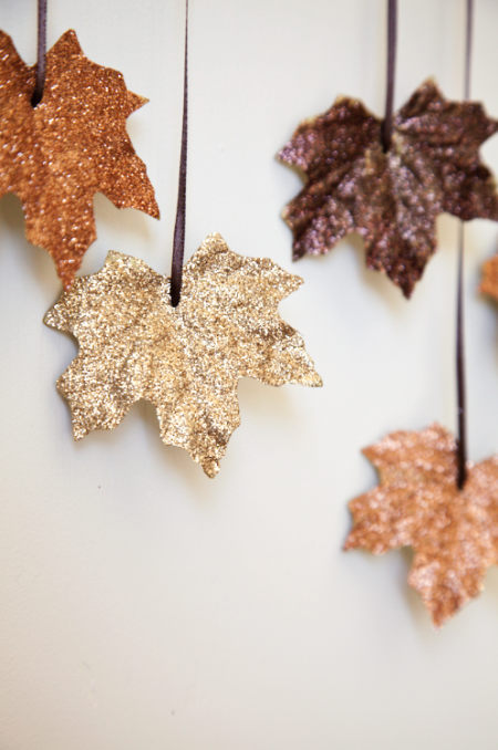 Glittery Fall Leaves Garland