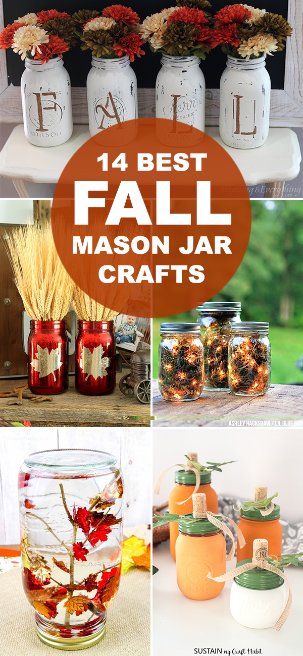 14 Best Fall Mason Jar Crafts
