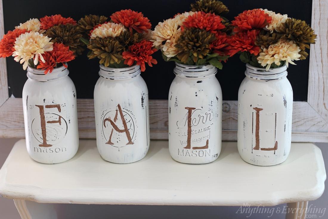 Fall Mason Jar Vases