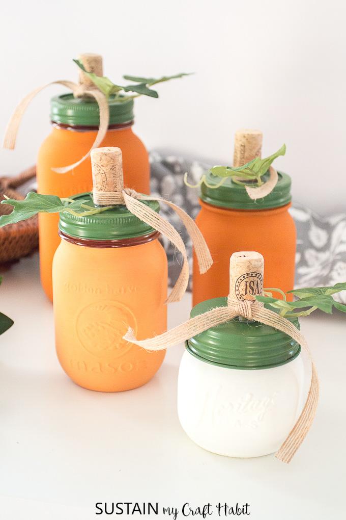 Pumpkin Mason Jars