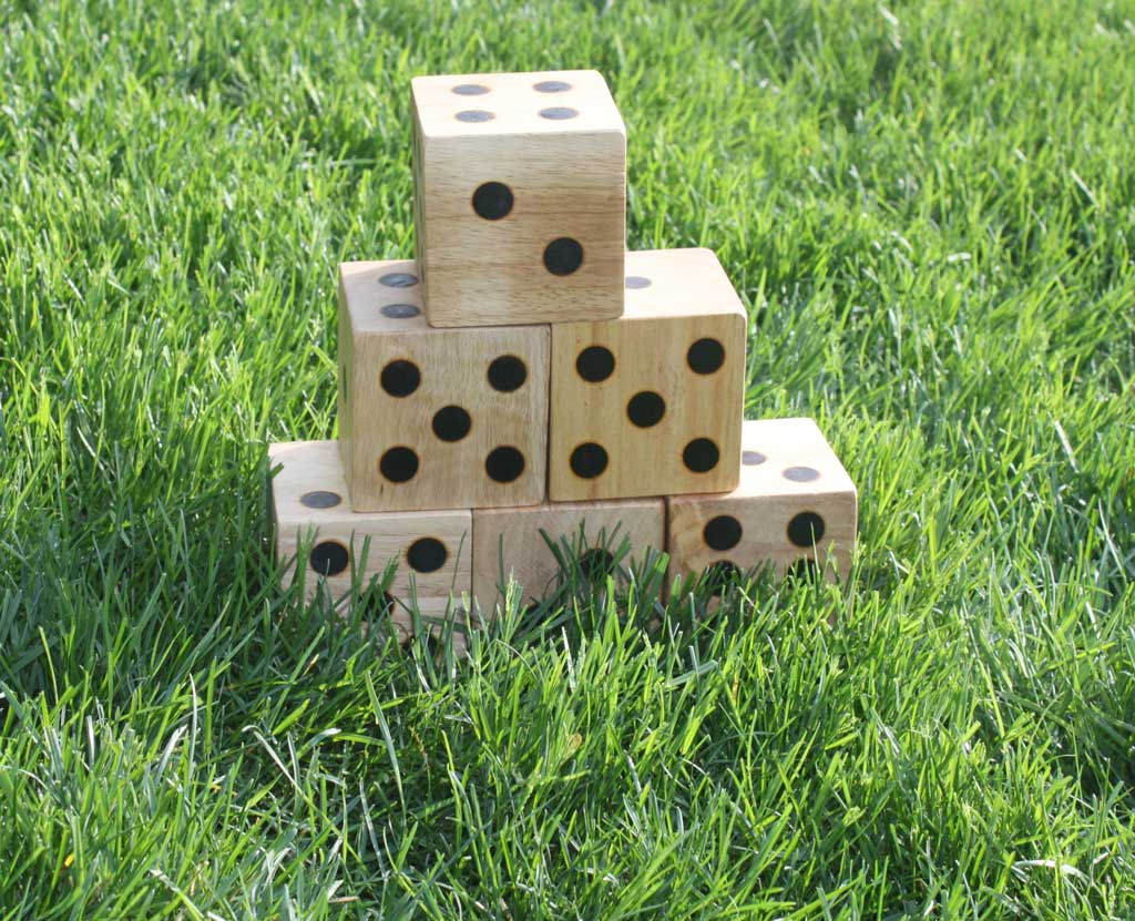 Wooden Yard Dice