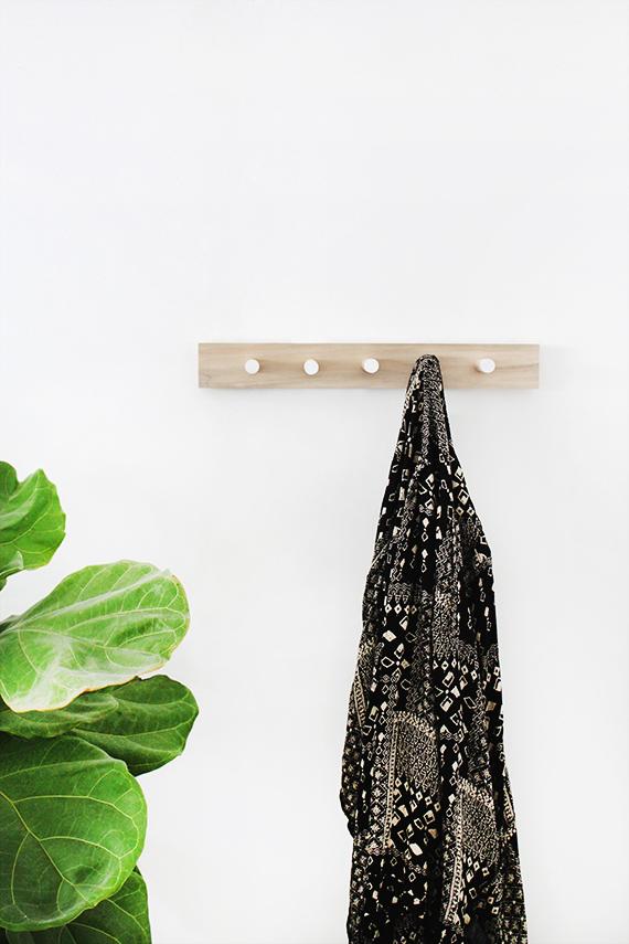 Simple Wood Coat Rack