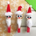 Adorable Santa Claus Clothespin Craft