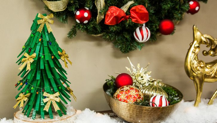 Clothespin Christmas Tree