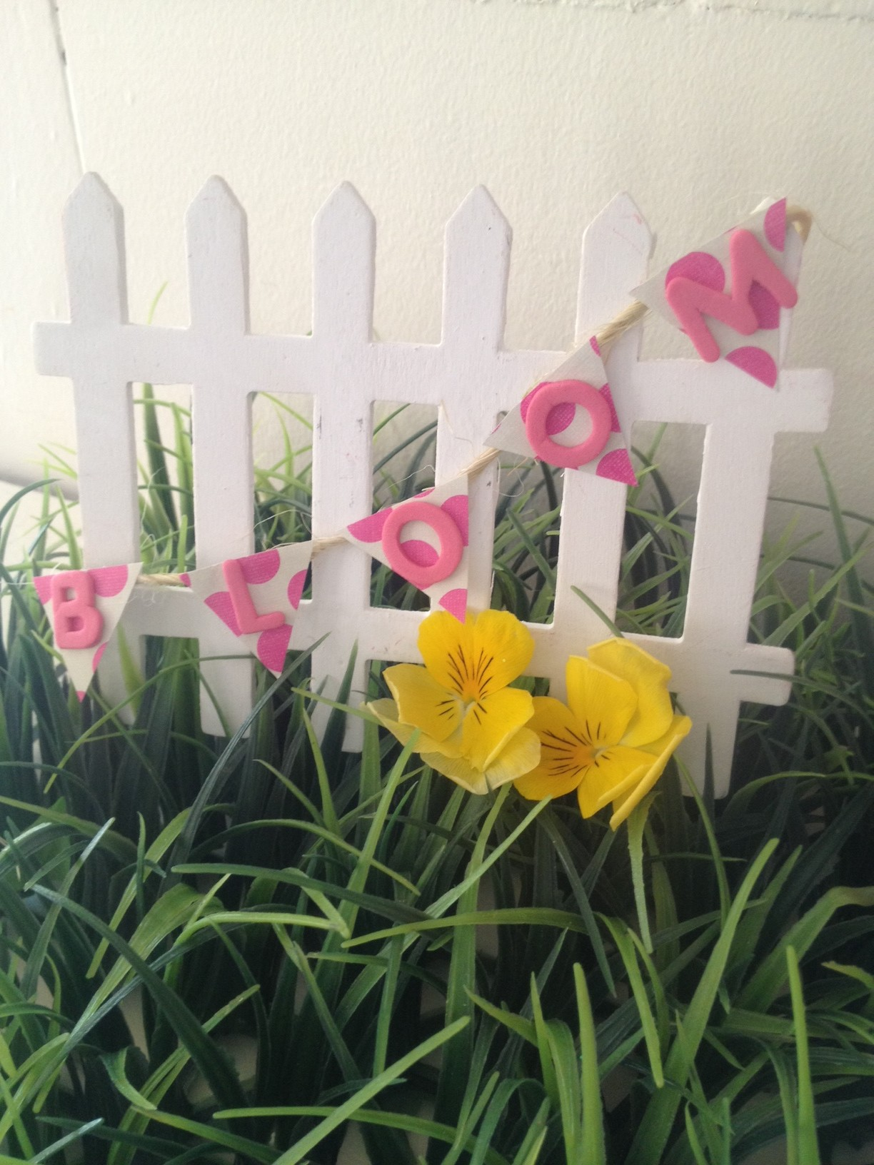 Fairy Garden Fence with Banner