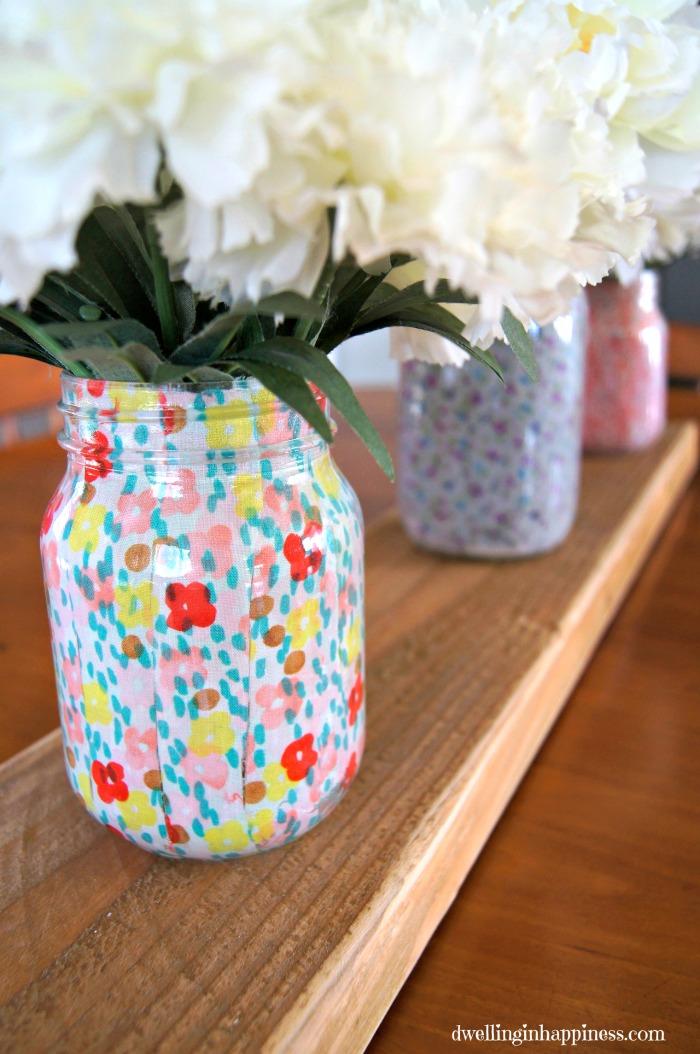 Floral Mason Jar Vases