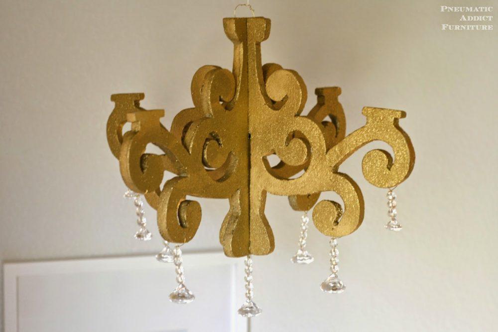 foam chandelier