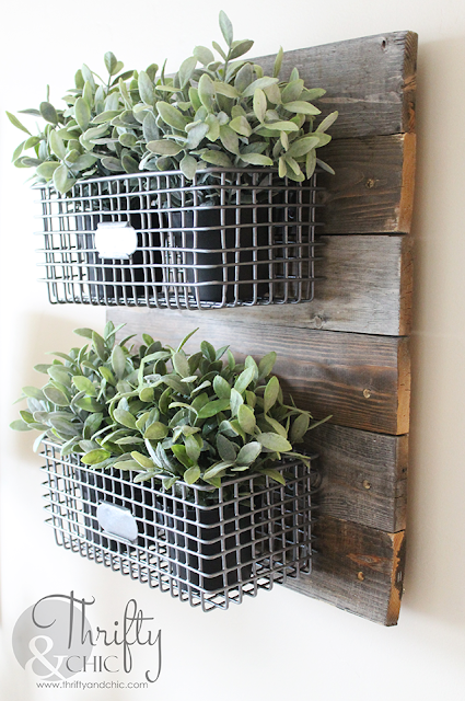 Farmhouse Style Hanging Wire Baskets